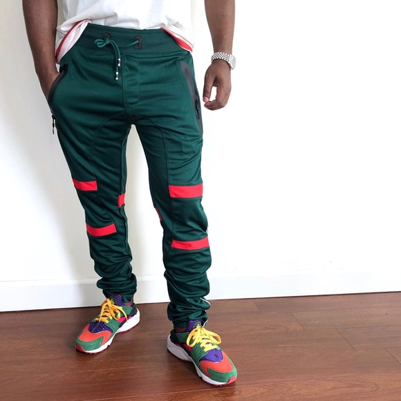 los angeles incredible prices best price NWT Trillnation joggers green with red stripe M NWT